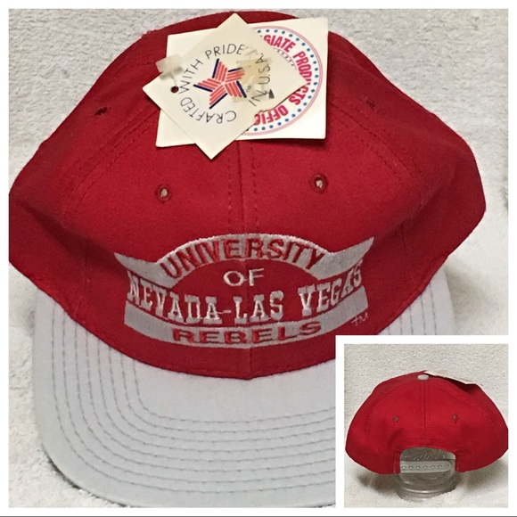 UNLV Rebels Vintage SnapBack 90 s Cap Hat Red NCAA.  M 5a8237a72ae12f54208da16b 055610ff4be1